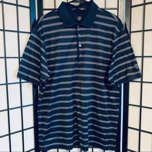 Tiger Woods Nike golf polo striped sz L